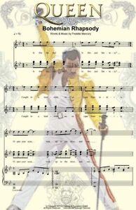 Queen Freddy Mercury Bohemian Rhapsody Music Art 11 x 17 High Quality Poster