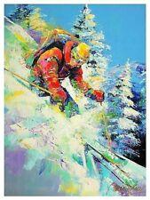 "Malcolm Farley-""Fresh Powder""-Ltd Ed Hand Enhanced Giclee/Canvas/Hand Signed/COA"