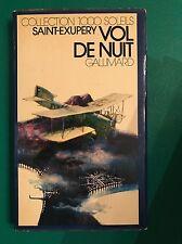 VOL DE NUIT - Antoine de Saint-Exupéry - Gallimard - 1972