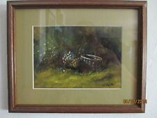 Small Oil or Acrylic on Board, Still Life, Landscape, Signed C Walker