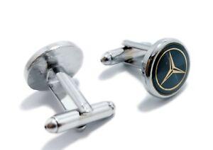 Mercedes Benz  Men's Silver Elegant Cufflinks With FREE Gift Pouch