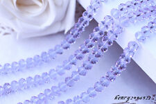 100 (±3) PCS , 4 X 6 mm Light Purple Crystal Faceted Gemstone Abacus Loose Bead