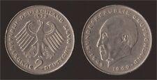 GERMANIA GERMANY 2 MARK 1973 F KONRAD ADENAUER