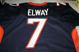 JOHN ELWAY #7 SEWN STITCHED THROWBACK JERSEY SIZE XL HOF 2004 SUPER BOWL MVP
