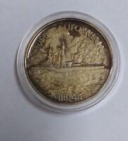 USS California Pearl Harbor 24K / 999 Silver WWII Commemorative Round (#SR-23)