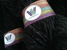 500 g Natural Charcoal BLACK  Pure Wool Double Spun Aran Weight Skeins