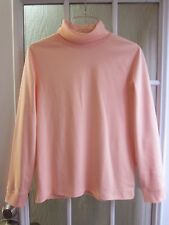 L.L. Bean Peach Color Turleneck Long Sleeve Cotton Shirt *Women M/R **NWOT**