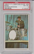 1964 O-Pee-Chee The Beatles Color George Speaking #28 PSA 6 EX/MT RARE