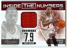 DERRICK ROSE 2012-13 Prestige Jersey Material Relic Inside the Numbers Bulls