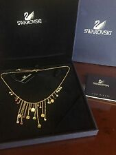 Swarovski CRYSTAL Brilliant Gem Colored Grapes Necklace in BOX EUC! Retail $220