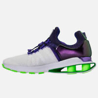 NEW IN BOX WOMEN'S NIKE SHOX GRAVITY SNEAKERS SIZE 7.5 WHT/VIOLET AQ8554 105