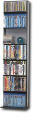 New Atlantic Media Tower Elite 210 Cd/129 Dvd/154 Blu-ray Black Shelf Book Case