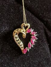 10K Gold Chain and Heart Pendant