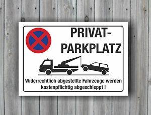 B-Ware Privatparkplatz Schild Alu 3 mm Parkverbot Parkverbot Halteverbot Hinweis
