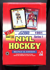 1991-92 Score Hockey Card Set Wax Pack Box Series 1 One Bilingual Edition 1992
