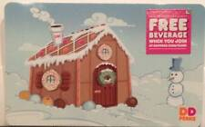 Dunkin' Donuts Gingerbread House Snowman Holiday Winter 2015 Gift Card FD-48938