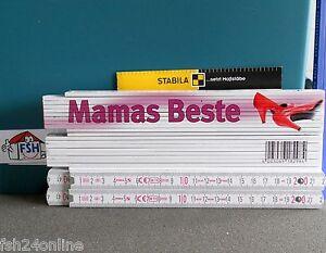 1 Stück Stabila Meterstab Mamas Beste / Zollstock Maßstab Sammlerstück 2m