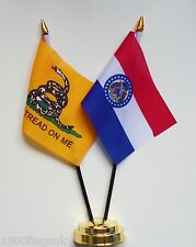 Gadsden & Missouri Double Friendship Table Flag Set