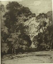 The Edge of the Coppice by Alfred East. Black and White Plate. The Studio, 1908.