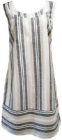 Womens Ladies Ex Chainstore (M&S) Linen Stripped Summer Sun Holiday Dress