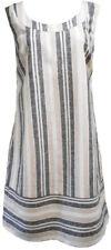 Womens Ladies Ex Chainstore Linen Stripped Summer Sun Holiday Dress