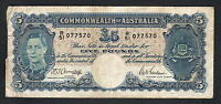 Australia  R-46. (1941) Five Pounds - Armitage/McFarlane...  Fine+