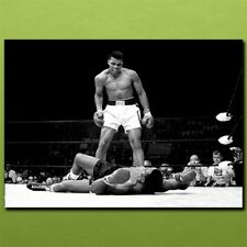 Muhammad Ali vs. Sonny Liston BW 038 Metal Plate Picture Metal wall art A1 A2 A3