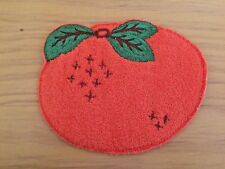 Vintage Orange patch Appliqué Terry Cloth New Old Stock Sewing 1960's Kitch