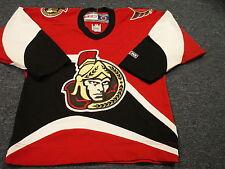LIGHTLY WORN VINTAGE CCM NHL OTTAWA SENATORS BLACK JERSEY YOUTH SIZE S