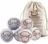 Nuvur All Natural Wool Dryer Balls Organic Fabric Softener Laundry - 6 Pack Xl -