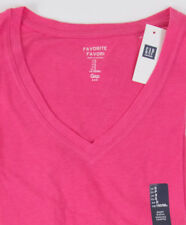 Womens Gap Favorite V Neck T-shirt Palm Springs Pink - 415631 S