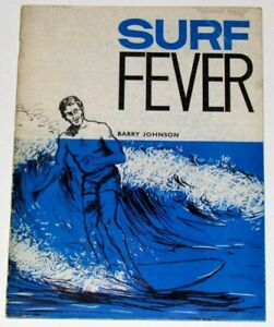 Vintage Original 1963 1st Edition Surf Fever Barry Johnson Rare Australia Book