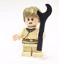LEGO STAR WARS MINIFIGURE YOUNG KID BOY ANAKIN SKYWALKER WITH LEGO WRENCH
