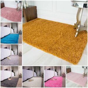 Kids Bright Yellow Childrens Warm Soft Shaggy Fluffy Deep Area Kids Room Rug Mat