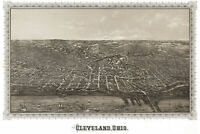 Map of Cleveland, Ohio by Vogt; 1887; Antique Birdseye Map
