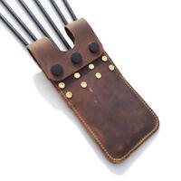Archery Arrow Quiver Holder Cow Leather Pocket Pouch Belt Waist Side Hip Bag