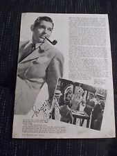 1939 CLARK GABLE (d. 60) AUTOGRAPHED MAGAZINE ARTICLE