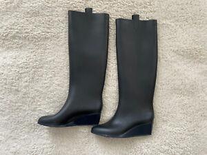 KARTELL SOPHIA Rain Boots Black Women's US 9 Made in Italy