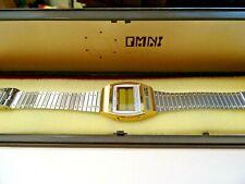 OMINI ~ VINTAGE OMNI QUARTZ WATCH ~ MEMORY ALARM WITH MUSIC ~ IN THE BOX