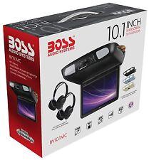 "Boss BV10.1MC 10.1"" FlipDown Overhead Screen Built-In DVD Player w/ 2 Headphones"