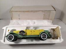 Franklin Mint 1930 Duesenberg J Derham Tourster convertible 1:24 Yellow B11KD09