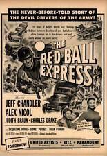 RED BALL EXPRESS Movie POSTER 27x40 B Jeff Chandler Alex Nicol Sidney Poitier