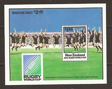 New Zealand 1991 World Cup Rugby M/S MNH