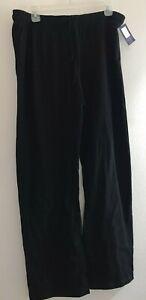Women's Champion Pants Size Large Black 100% Cotton Athletic Active Workout NWOT
