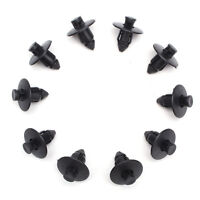 10pcs Black Plastic Rivets Trim Clips 8mm For Suzuki Bumpers Sills Trim Panel