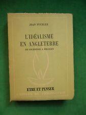 L'IDEALISME EN ANGLETERRE DE COLERIDGE A BRADLEY JEAN PUCELLE N44 ETRE ET PENSEE