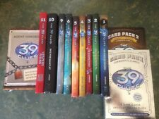 The 39 Clues 10 Books, 2 Card Packs 1 & 2 Includes Vespers Agent Handbook VGC
