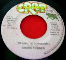 "Chuck Turner Trying To Conquor I JA 7"" Digi Dancehall Crat b/w Version VINYL"