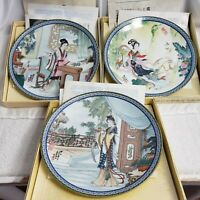 Imperial Jingdezhen Beauties of the Red Mansion Plates #1, #2, #4