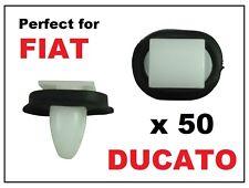 50 x FIAT DUCATO EXTERIOR SIDE MOULDING RUB BUMP STRIP LOWER DOOR TRIM CLIPS
